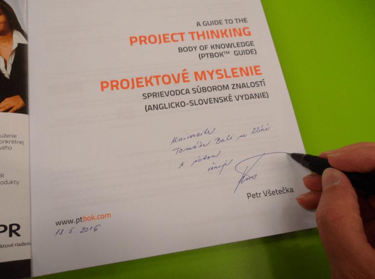 Venovanie knihy Univerzite Tomáše Bati ve Zlíně, Česká republika